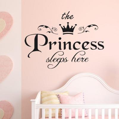 Wall Sticker Frasi Scritte The Princess