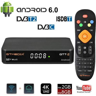 GT MEDIA GTT-2 Android 6.0 TV Box + DVB-T2 C ISDBT Decodificatore