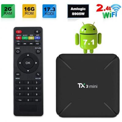 Sofobod TX3 MINI 7.1.2 smart TV BOX 2GB 16GB 4K TV Amlogic S905W Quad core H.265 Decoding 2.4GHz WiFi